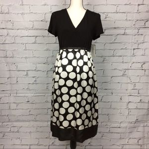 Polka Dot V-neck Dress, Size 12